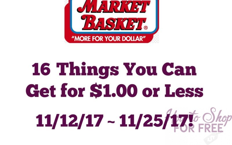 16 Things You Can Get for $1.00 or Less at Market Basket 11/12 ~ 11/25 (2 Week Sale)