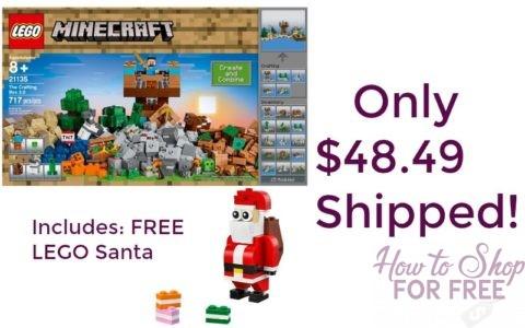 Minecraft LEGO Set + FREE LEGO Santa Only $48.49 Shipped! | How to ...