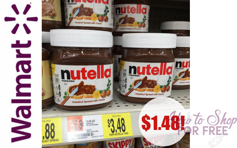 Nutella ONLY $1.48 at Walmart~ YUMMM!!