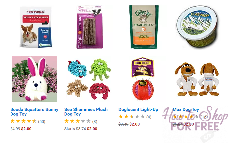 $2 Crazy Deals On Pet Supplies and Toys!