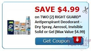 **HOT** NEW Printable Coupon B1G1 FREE Right Guard Antiperspirant Deodorant