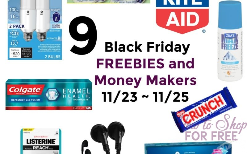 9 Black Friday FREEBIES and Money Makers at Rite Aid 11/23 ~ 11/25!!