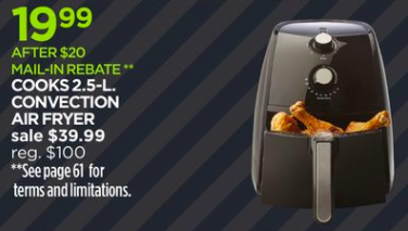 Cooks Airfryer ONLY $19.99 – JCPenney Black Friday!!! 11/23-11/24 ...
