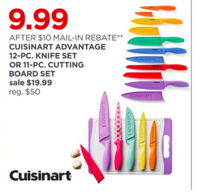 Cuisinart 12 pc Knife Set ONLY $9.99 (orig. $50) – JCPenney Black Friday Deal!