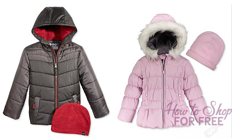 Run! Kids winter Coats $15.99 at Macy's