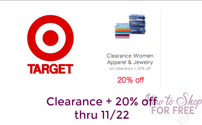 Clearance + EXTRA 20% off Women's Apparel & Jewelry at Target!!!