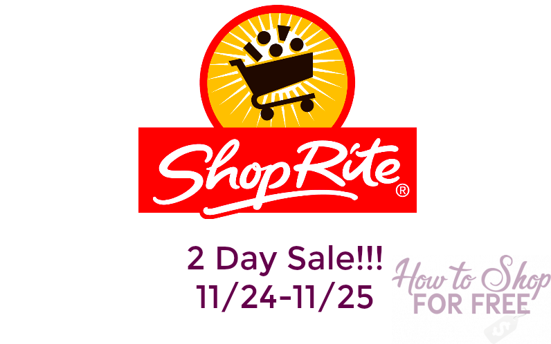 Black Friday Sale at Shop Rite – $3 Pampers, FREE Body Wash and MORE!! (11/24-11/25)