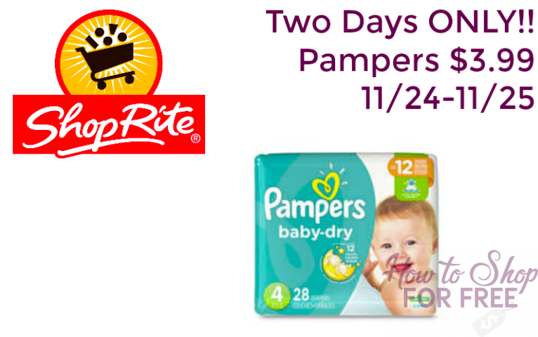 Pampers ONLY $3.99!!!