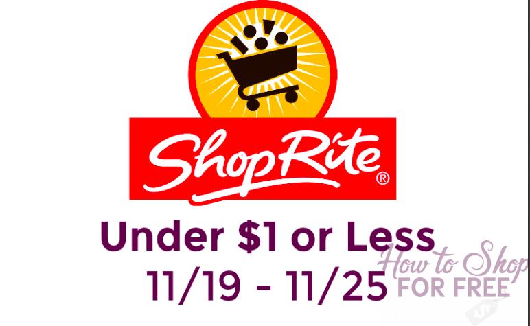 UPDATE: 28 Items Under $1 at ShopRite (11/19-11/25)