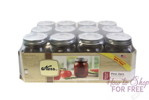 $5.00 for a 12 Pack of Kerr Mason Jars!   ~Stock Up Price