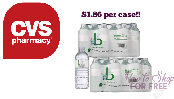CVS Cash Card Deal: Water 24pk ONLY $1.86 – NO COUPONS NEEDED ! ! !