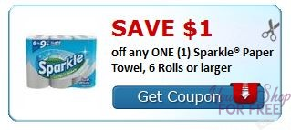 **HOT** NEW Printable Coupon ** $1.00/1 Sparkle Paper Towel