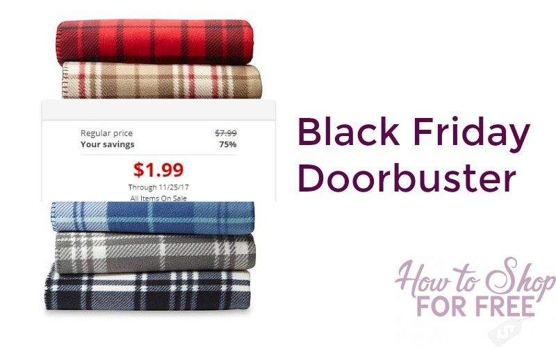75% Off Fleece Throws Pay Only $1.99!