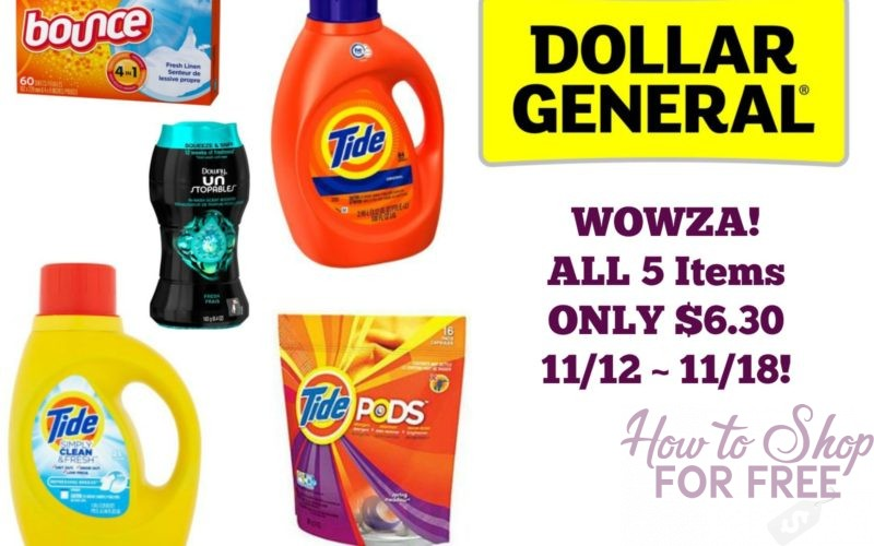 WOWZA! All 5 Items ONLY $6.30 at Dollar General 11/12 ~ 11/18!