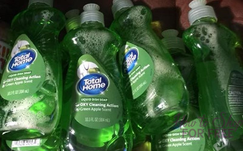 Total Home Green Apple Dish Liquid $.22 at CVS