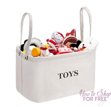 MaidMAX Canvas Kids Collapsible Storage Basket – 71% off ~ ONLY $5.59!!