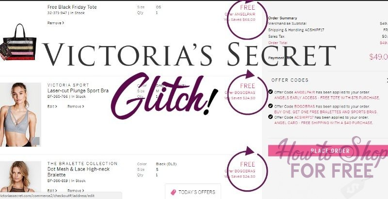 VICTORIA'S SECRET GLITCH: 4 BRAS + $70 TOTE + FREE SHIPPING FOR UNDER $30!