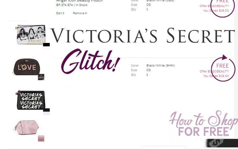 VICTORIA'S SECRET: BEAUTY BAG GLITCH Just $10.80 shipped!