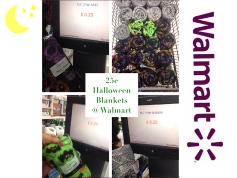 if you have some spare change you can grab some spooky halloween throw blankets on clearance at walmart as low as 25 each stash for some cozy gifts or