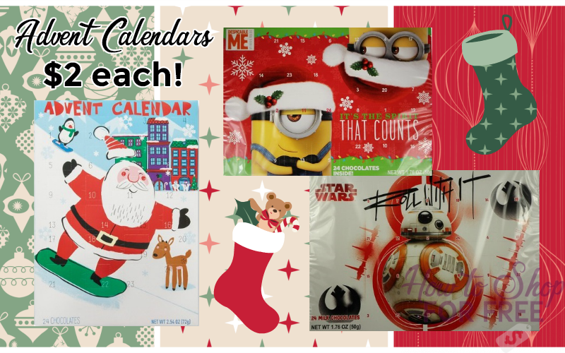 $2 Advent Calendars w/ Sale + Grocery GC Deal!