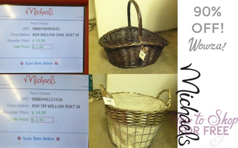 90% OFF Baskets at Michael's!! Check Yours!!
