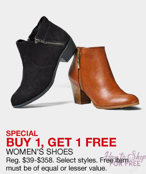 Macy's – BOGO Shoes and Boots!  + FREE Shipping + FREE $10.00