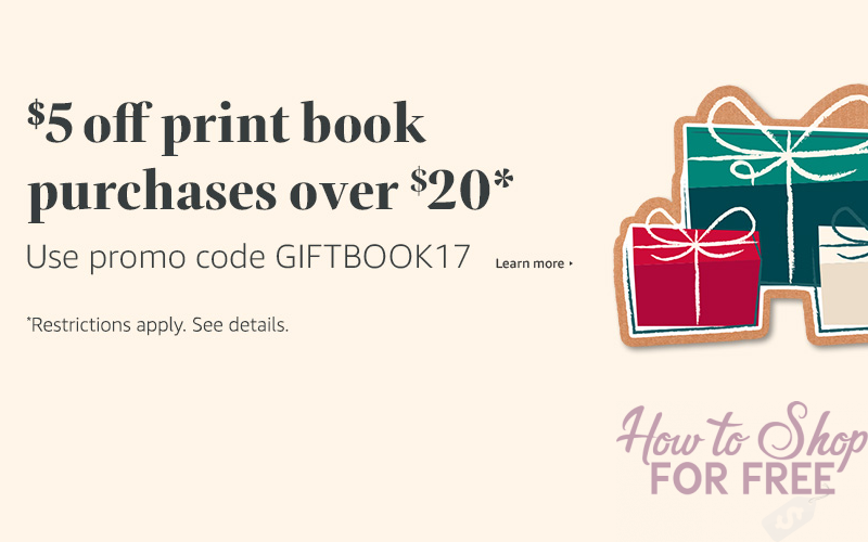 $5 OFF Books with Rare Amazon Coupon!