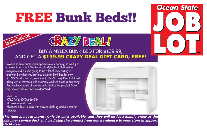 FREE Bunk Beds!!!! (Yes, Seriously!) **LAST DAY**