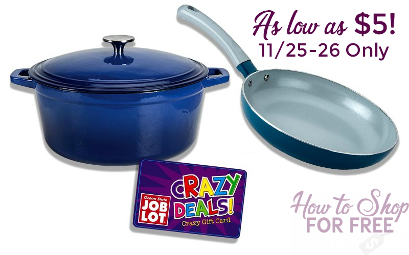 Cookware as low as $5 at Job Lot!!! (11/25-26)