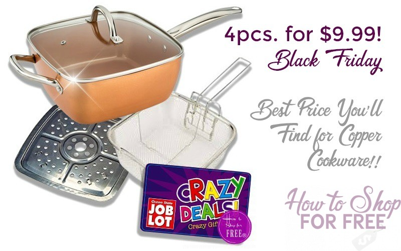 4pc. Copper Cookware UNDER $10!! **LAST DAY**