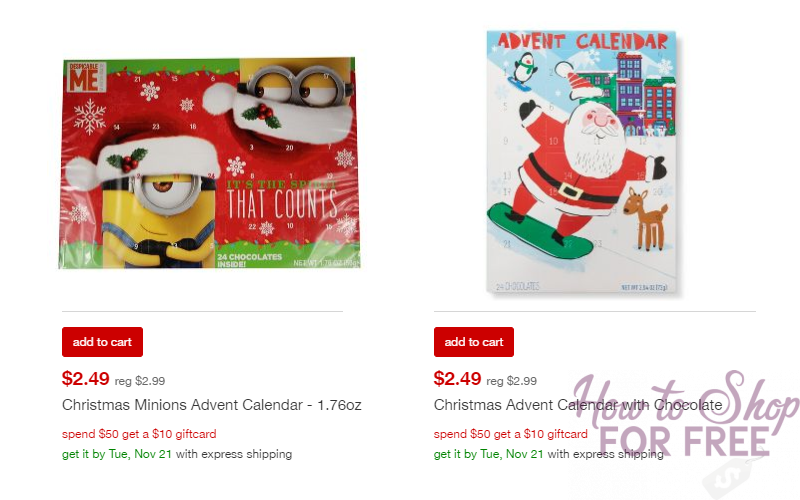 Minions Chocolate Advent Calendar Only $2.49 Shipped!