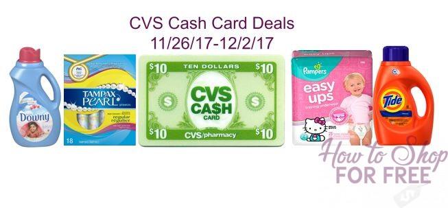 Cash Card Deals at CVS!