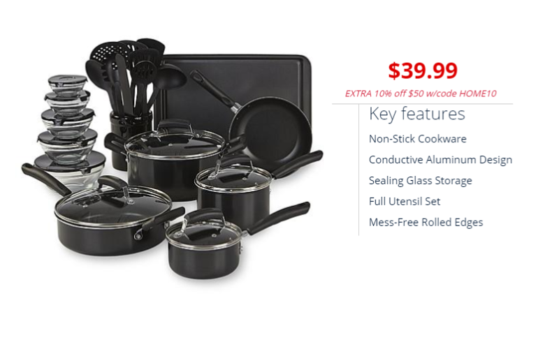 Essential Home 25-Piece Mega Cookware Set Only $39.99! (Save $50)