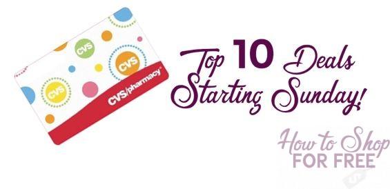 Top 10 Deals Starting Sunday, 3/25, at CVS!