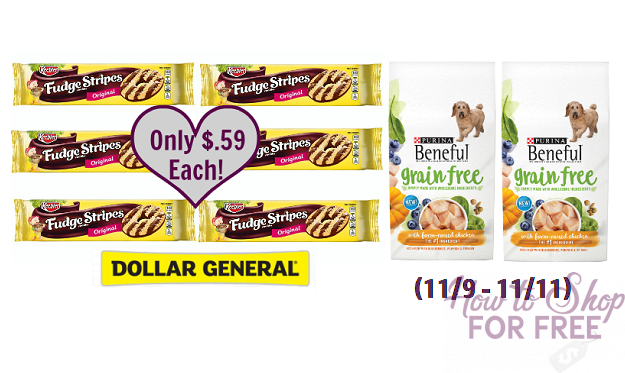 WOW! Beneful Dog Food and Keebler Cookies for Only $.59 Each!
