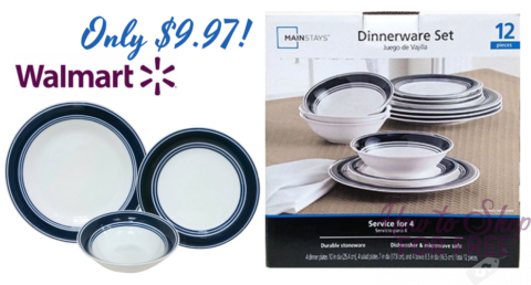 $10 Dish Set 12pcs   How to Shop For Free with Kathy Spencer