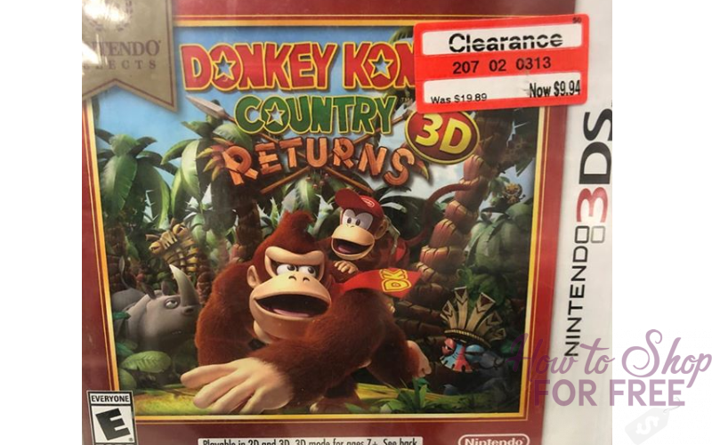 OMG~ 3DS Donkey Kong Game ONLY $9.94!!