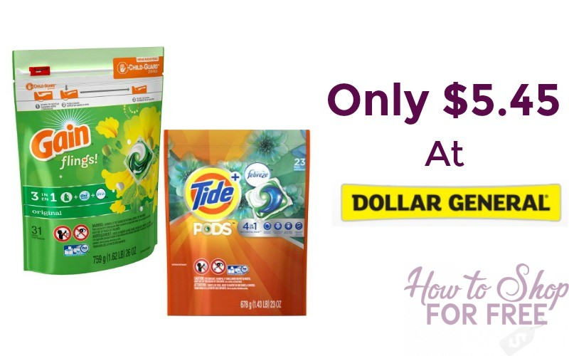 Tide Pods or Gain Flings 31 ct Only $5.45!