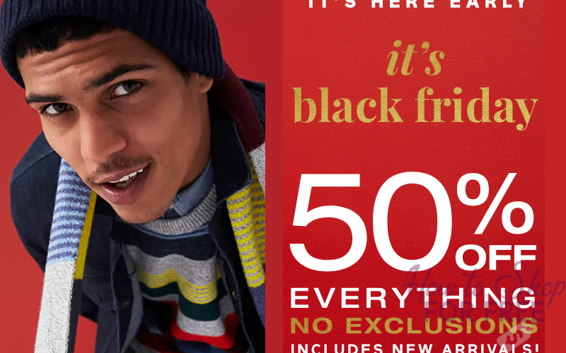 GAP Black Friday is LIVE~ 50% OFF, No Exclusions!