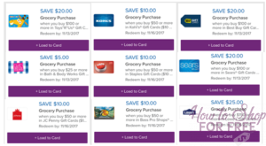 GIFT CARD PALLOOZA AT STOP & SHOP! 5X Gas points starting 11/10!!!