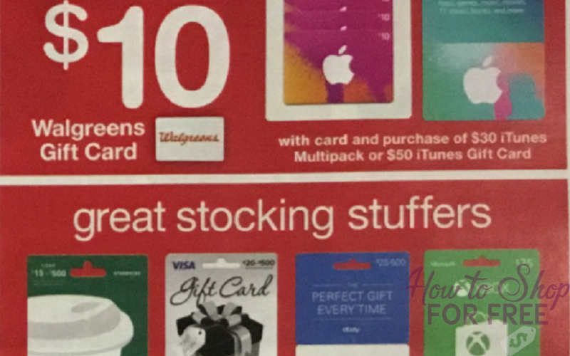*HOT* FREE $10 Walgreen's Gift Card with iTunes Gift Card Purchase!