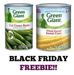 FREE Green Giant Vegetables at CVS! ~ Black Friday FREEBIE!