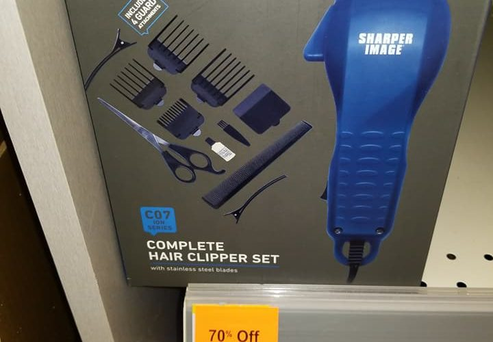 70% Off Sharper Image Hair Clipper Set Only $4.49 at Walgreen's