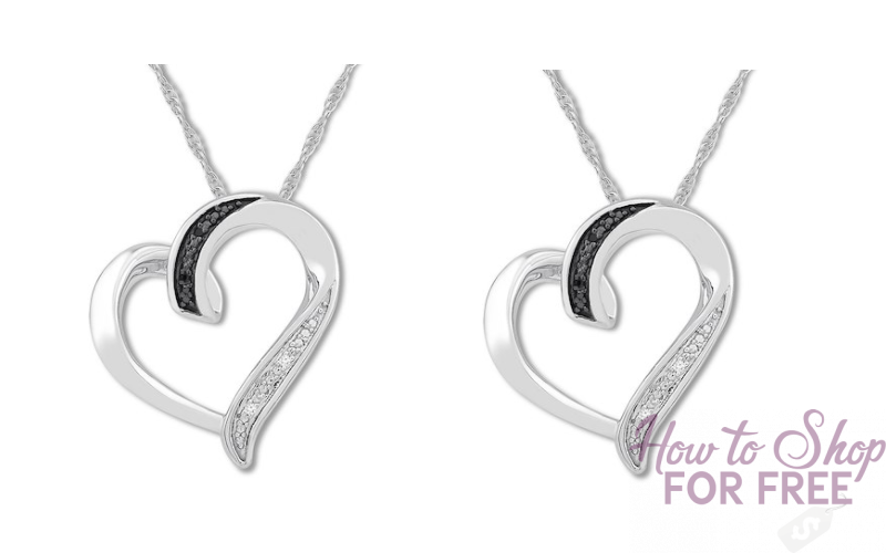Gorgeous Diamond Heart Necklace ONLY $21!