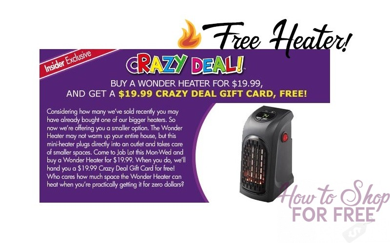 Grab a FREE HEATER to keep you warm this winter!