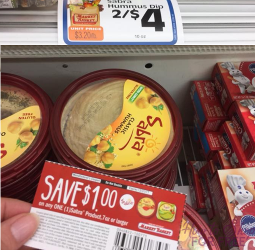 Sabra Hummus Only $1 at Market Basket