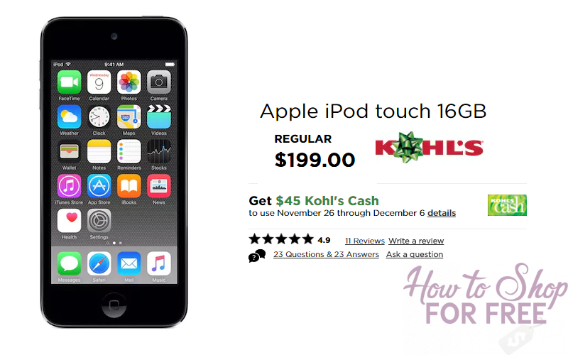 Lowest Price on the Apple iPod Touch