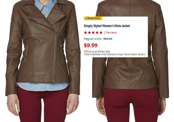 *HOT* Simply Styled Women's Moto Jacket Only $9.99 (Reg. $60)