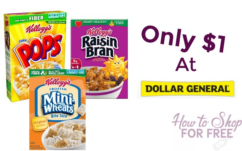 Kellogg's Cereal Only $1!