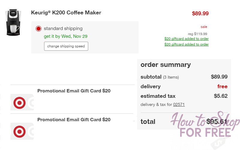 Keurig K200 Single-Serve K-Cup Pod Coffee Maker Glitch! Get TWO $20 Target Gift Cards!